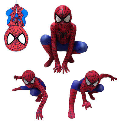Child Boy Amazing Spiderman Costume Kids Halloween Party Superhero Spandex Suit ](Awesome Childrens Halloween Costumes)