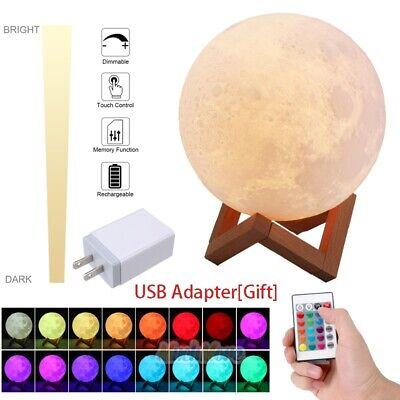 Halloween Night Moon (3D Moon Lamp Moonlight USB LED Night Lunar Light Touch 16 Color)