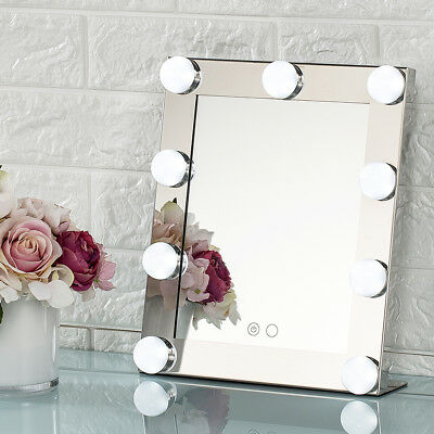 Silver Led Bulb Vanity Lighted Hollywood Makeup Dimmer Stage Beauty Mirror S