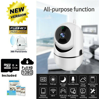 1080P Wireless IP Camera / Nanny Camera Indoor Home Smart Wifi Baby Monitor Pet