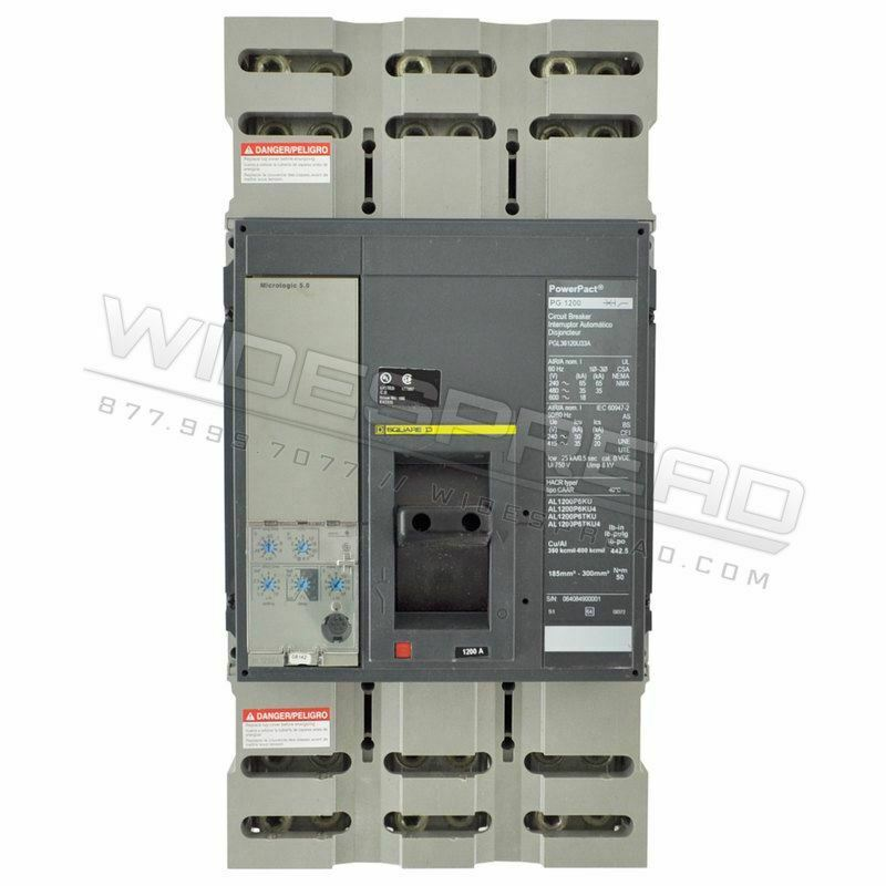 PGL36100 Feed-Thru Circuit Breaker 1000A 600V PGL Powerpact Schneider Electric,S