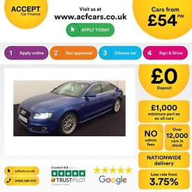 Audi A5 3.0TDI ( 245ps ) quattro Sportback 2012MY S Line FROM £54 PER WEEK !