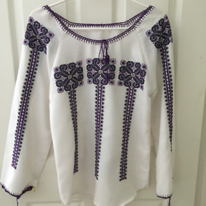Hand Embroidered Ukrainian Blouse