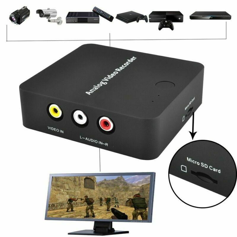 VHS To Digital Converter Video File Recorder Adapter for Hi8 Tape DVR Camcorder