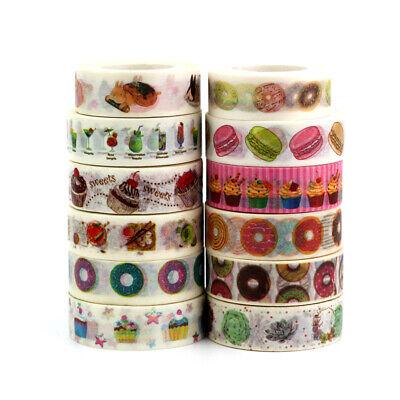 Cute Food Japanese Washi Tape Paper Set for Planner Scrapbooking Bujo Masking Japanese Washi Paper Tape