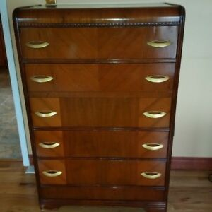 Antique 1930's Highboy Dresser