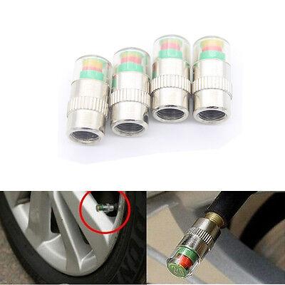 4 x Car Valve Tyre Caps Dust Monitor Wheel Pressure 30-32-36 PSI Tire Air Sensor