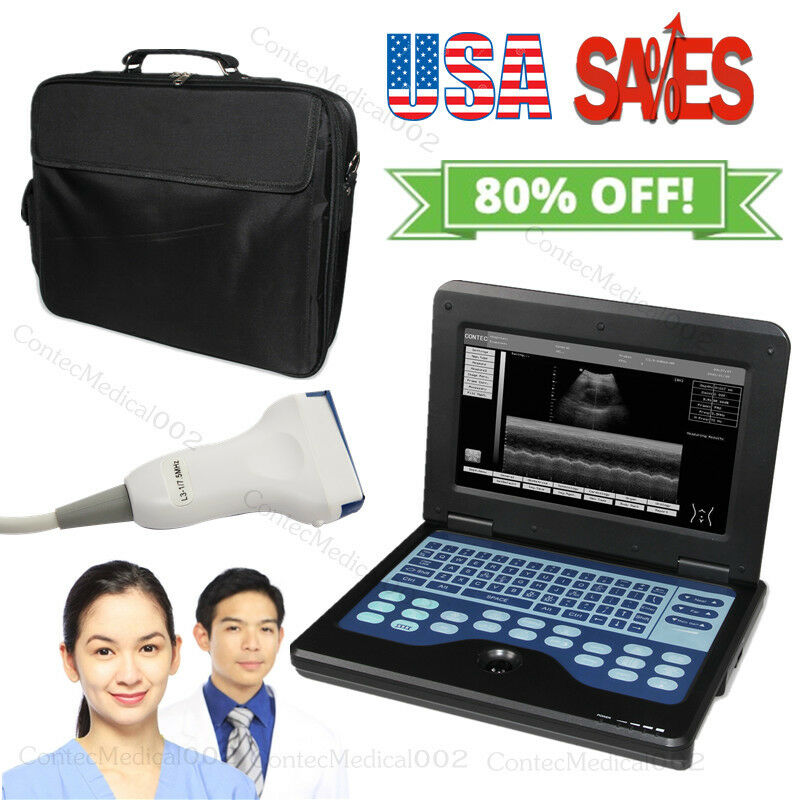 Best NEW CONTEC CMS600P2 DIGITAL ULTRASOUND SCANNER LCD LAPTOP MACHINE WITH 7.5MHZ LINEAR