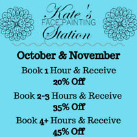 Face Painting - October and November Up to 45% off