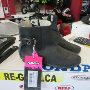 Ladies Icon Sacred Motorcycle Boots NEW Only $60 Re-Gear Oshawa