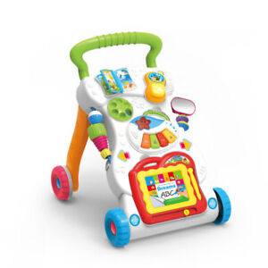 2 In 1 First Steps Baby Walker Sounds  and Lights Fun Push Along Walker