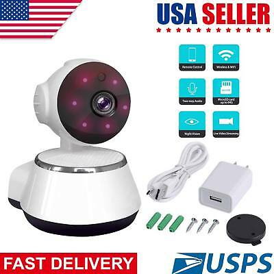Wireless 720P Pan Slope HD WiFi IP Home Video Security Camera System 2-Way Audio
