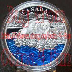 2017 Grizzly Bear Blue Enamel $20 Silver Proof Masters Club Coin