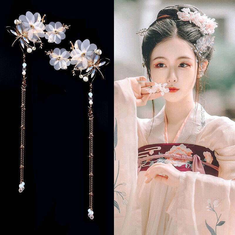 Chinese Classical Costume Headdress Tassel Hair Clip Bobby P