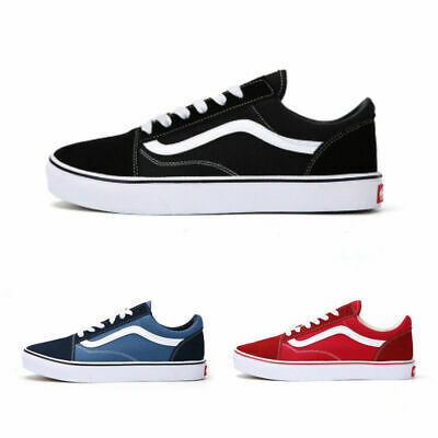 VAN Old Skool Skate Shoes Black/White All Size Classic Canvas UK3.5-UK9 Eu 36-44