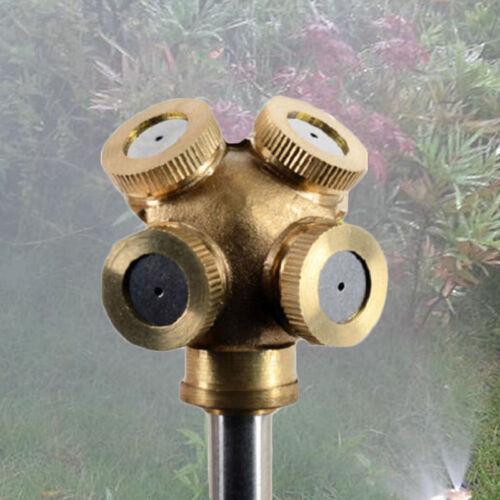 4Hole Adjustable Brass Spray Misting Nozzle Garden ...