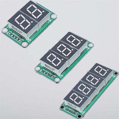 74hc595 Static Driving 234 Digit Segment 0.5 Inches Red Digital Display Module