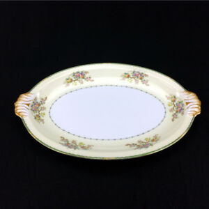 Meito China Stuart Platter Rose Floral Pattern Hand Painted