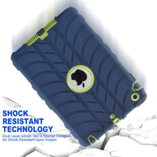 Shockproof Heavy Duty Rubber Hard Case For iPad 2/3/4 Mini 1/2/3/Air 1 2/Pro 9.7