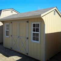 8' x 12' Double Door Shed with Windows – Delivery Available