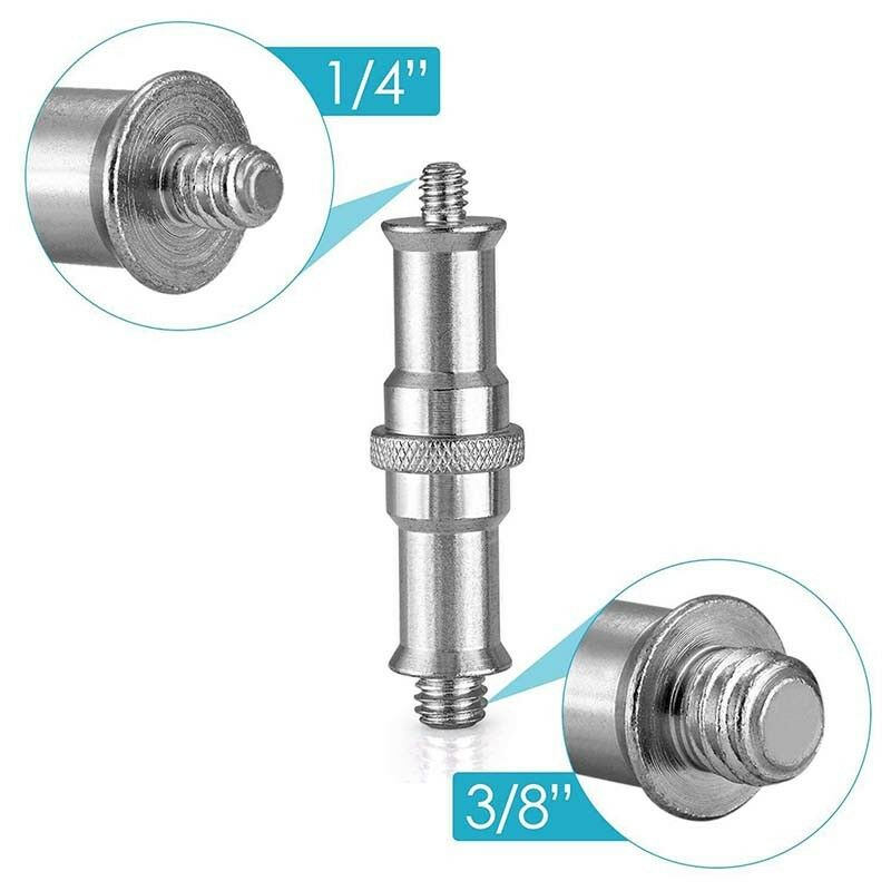 "1/4"" to 3/8"" Female to Male Screw Adapter Stud Spigot For Light Lamp Stand In xk"