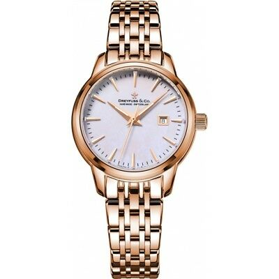 Dreyfuss and Co DLB00129-41 Ladies 1890 Rose Gold Plated Bracelet Watch  RP 550