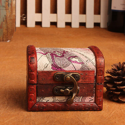 Colonial Trunk ( Wooden Colonial Style Trunk Treasure Chest Vintage Jewellery Storage Box)