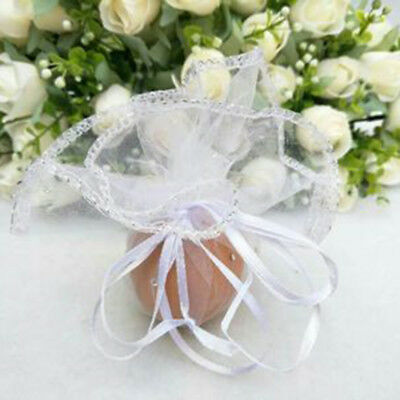 Candy Bags (10 Pcs/lot Organza Bags Creative Candy Package Handmade Round Engagement Wedding)