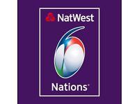2 x tickets ENGLAND v WALES at Twickenham 6 nations