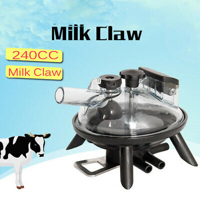 240cc Portable Dairy Cow Milker Milking Machine Stainless Steel Vacuum Pump Usa
