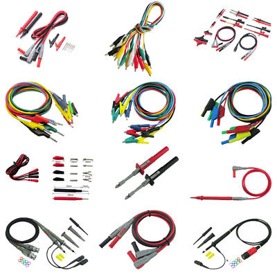 Digital Multimeter Probe Electric Test Lead Cable Alligator Clip Banana Plug Kit