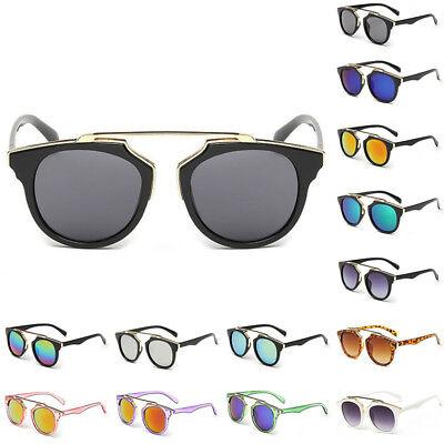 Retro Damen Herren Modische Sonnenbrille klassisch verspiegelte Linse Brillen