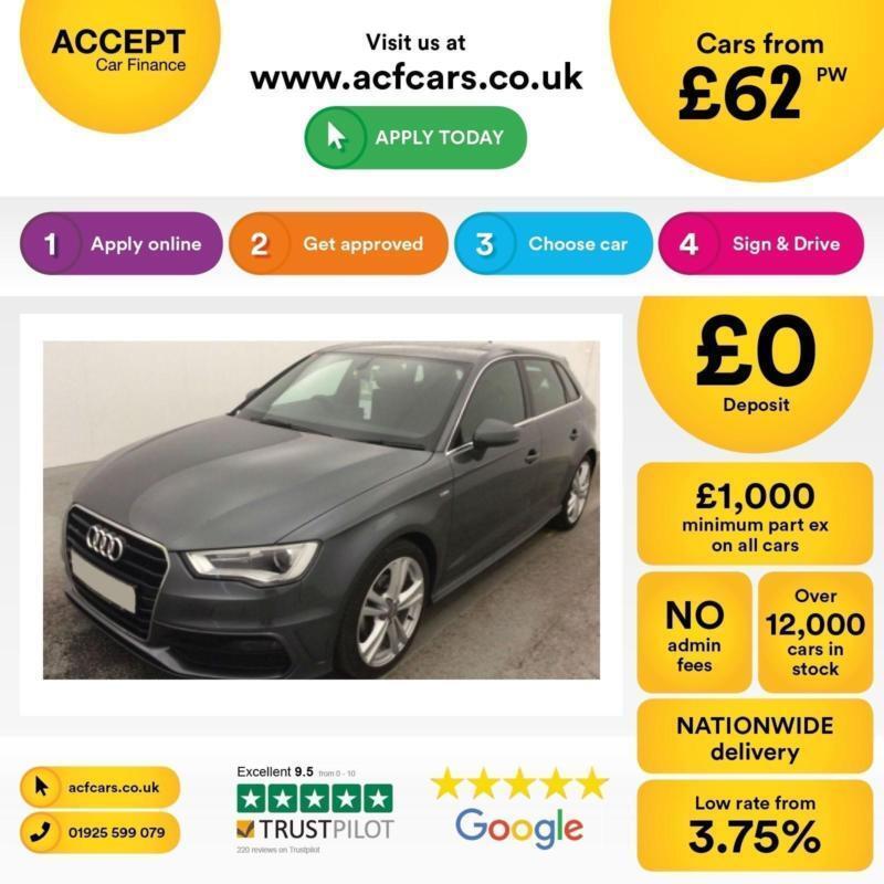 Audi A3 2.0TDI Sportback S Line FINANCE OFFER FROM £62 PER WEEK!
