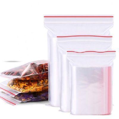 100 Pcs Clear Plastic Zip Resealable Ziplock Packing Storage Bag Food Candy Bag