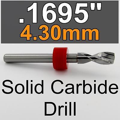 .1695 4.30mm 18 Carbide Drill Bit 18 Shaft Cnc Wood Metal Steel Plastic Rs