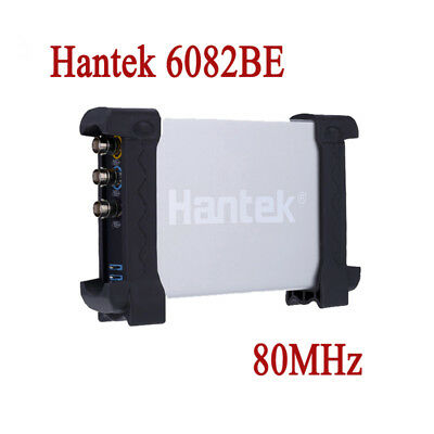 Hantek Pc Based Usb Digital Storage Oscilloscope 6082be 80mhz Bandwidth 250mss