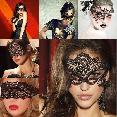 Venezianische Augenmaske Spitze Gothic Karneval Fasching Halbmaske Gesicht WOW