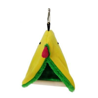 Parrot Hammock Plush Bird Nest Pet Triangle Warm Hanging Bed Cage Cave Hut Tent