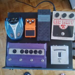 Guitar pedals: distortion, fuzz, wah, delay, synth, tuner pedals
