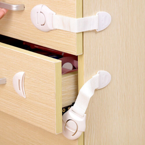10 PCS Safety Child Infant Baby Kids Drawer Door Cabinet Cupboard Toddler Locks
