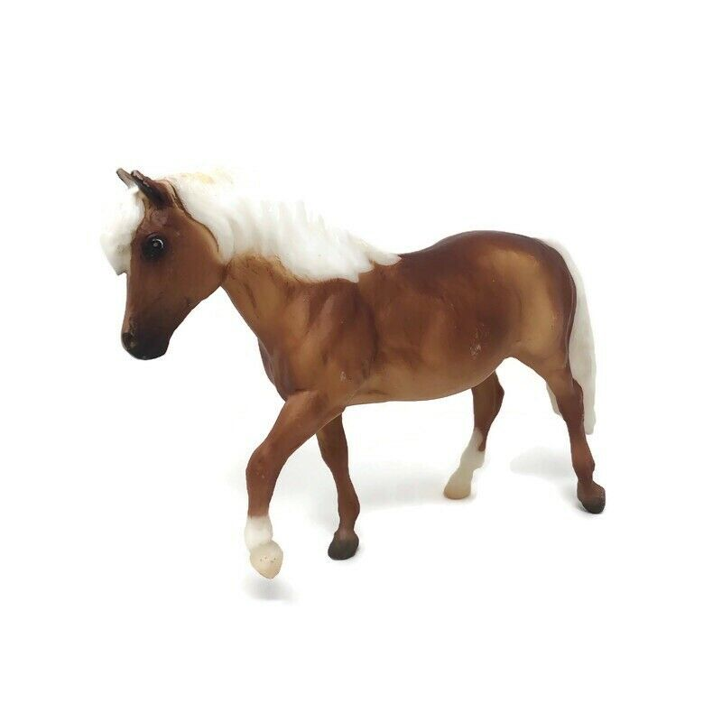 """Breyer Molding Co Horse Brown White Pony Used 6"""" Long"""