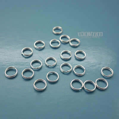 20PC Solid Sterling Silver 5mm 24 Gauge/0.5mm Split Jump Ring Connector #33126