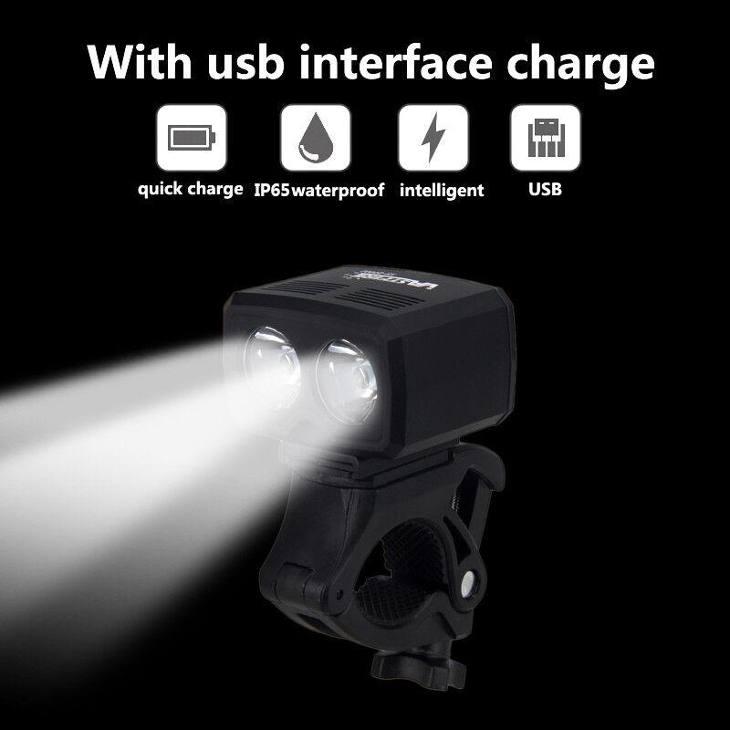 MTB Bike Front Light USB Rechargeable T6 LED Bicylce Headlight Torch Waterproof