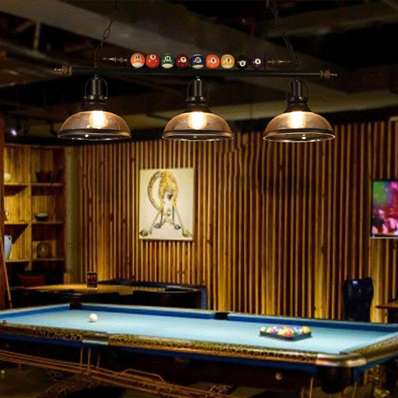 3 Light Metal Ball Design Pool Table Light Billiard