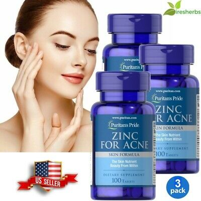 #1 BEST ZINC FOR ACNE SKIN HEALTH REDUCE APPEARANCE SCARS SUPPLEMENT 300