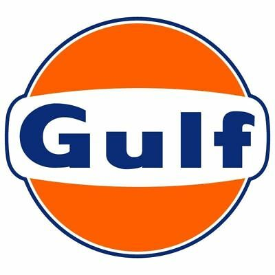 Gulf 2 PACK Vintage Style Vinyl Decal Sticker - You Choose Size - FREE SHIPPING ()