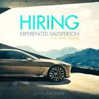 Experienced Salesperson Needed