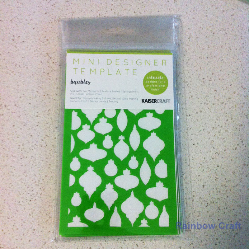 Kaisercraft Mini Designer Templates Stencils Blossom Christmas Holly Leaves - Baubles