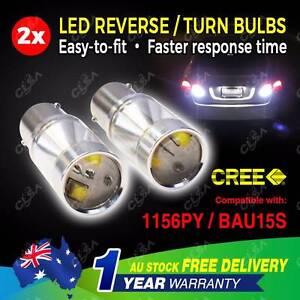 2PCS 12-24V LED CREE BAU15S 1156PY PY21W Car Tail Light North Melbourne Melbourne City Preview