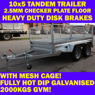 10x5 GALVANISED TANDEM TRAILER WIT CAGE 10 x 5 TRAILER 2000KG ahp Dandenong South Greater Dandenong Preview